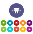 good tooth icon simple style vector image vector image