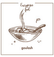 goulash soup sketch icon for european hungarian vector image vector image
