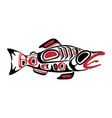 haida fish tattoo ornament in haida style vector image vector image