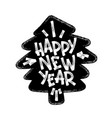 happy new year marker hand lettering isolated on vector image vector image