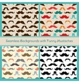 Hipster Mustaches Seamless Patterns vector image vector image