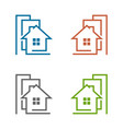 home building logo template vector image