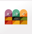 infographic option banner vector image vector image