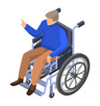 invalid man in wheelchair icon isometric style vector image vector image