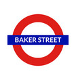 london underground sign metro tube subway vector image vector image
