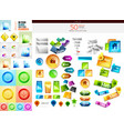 mega collection of design elements and buttons vector image
