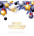 merry christmas background with realistic golden vector image vector image