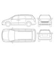 minivan car template on white background vector image vector image