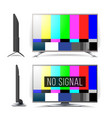 no signal tv test pattern lcd monitor vector image vector image