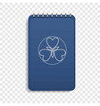 office blue notebook icon realistic style vector image vector image
