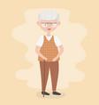 old people senior man grandfather grandparent vector image