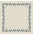 Ornamental doodling floral frame vector image vector image