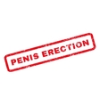 Penis Erection Rubber Stamp vector image vector image