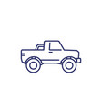 pickup truck icon on white line art vector image