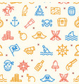 pirate signs seamless pattern background vector image