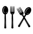 plate with spoon and fork icon isolated sign vector image