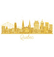 quebec city skyline golden silhouette vector image vector image