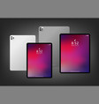 realistic new tablet mockup design vector image vector image