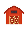 red barn building isolated vector image