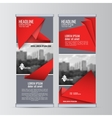 Roll up business banner design vertical template vector image vector image