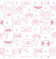 Romantic seamless pattern Cute background vector image vector image