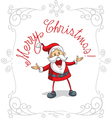 Santa Claus Merry Christmas Cartoon vector image vector image