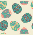 seamless easter eggs pattern element vector image