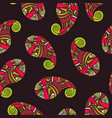 seamless pattern of indian paisley vector image vector image