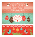 Set easter banners