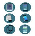 Set of 6 Smartphone icon vector image