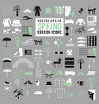 set of spring season icons big collection vector image