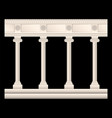 set of stone columns in different styles isolated vector image
