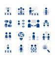 simple set team work icon flat sign symbol vector image