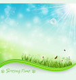 springtime meadow background vector image vector image