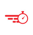 stopwatch graphic icon design template vector image vector image