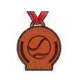tennis winner medal vector image vector image