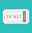 ticket template vector image vector image