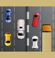 traffic way top composition vector image vector image