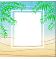 tropical summer beach party poster design vector image vector image