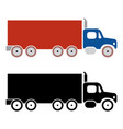 truck cargo icons vector image