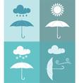 Umbrella Weather Icon vector image