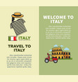 welcome to italy promo booklets with cultural vector image vector image