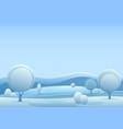 winter fantasy forest landscape vector image vector image