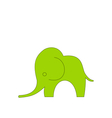 Cartoon Child of Elephant Isolated vector image
