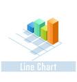 line chart icon symbol vector image