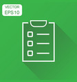 to do list icon business concept checklist task vector image