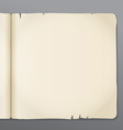 Old opened book pages background vector image
