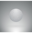 abstract sphere electronic circuitry vector image