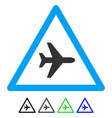airplane danger flat icon vector image vector image