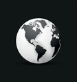 black earth globe world map design america vector image vector image